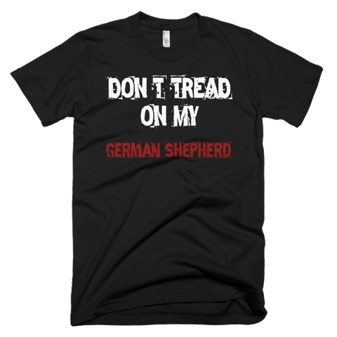 Don't Tread On My German Shepherd / White - Short Sleeve Men's T-Shirt