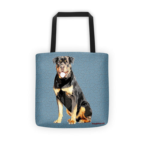 Rottweiler Polygonal Art - All-Over Tote Bag