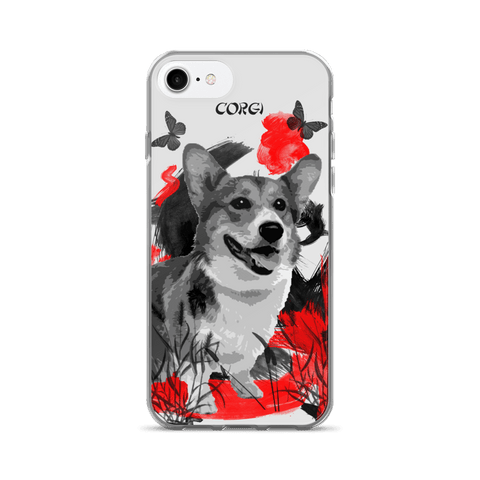 Corgi Chinese Painting - iPhone 7/7 Plus Case