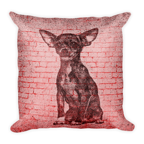 Chihuahua On Wall Decorative Pillow