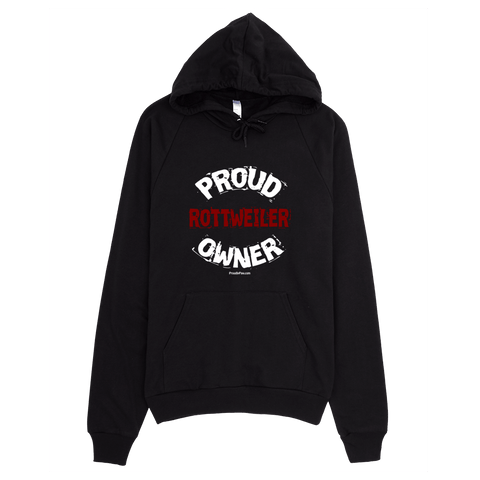 Proud Rottweiler Owner / White - Pullover Hoodie