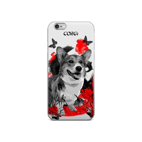 Corgi Chinese Painting - iPhone Case