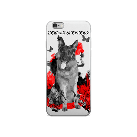 German Shepherd Chinese Painting - iPhone Case