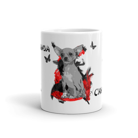 Chihuahua Chinese Painting - 11oz Mug