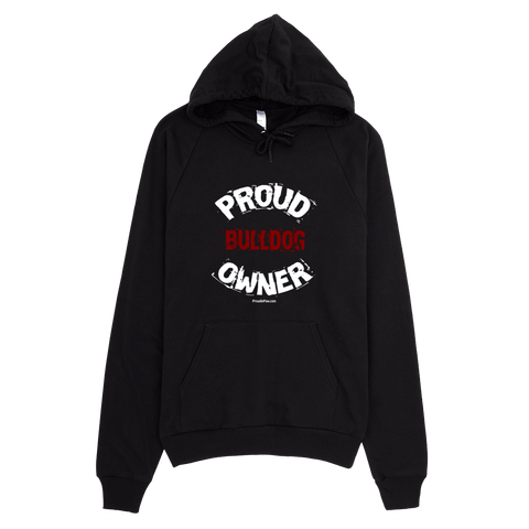 Proud Bulldog Owner / White - Pullover Hoodie
