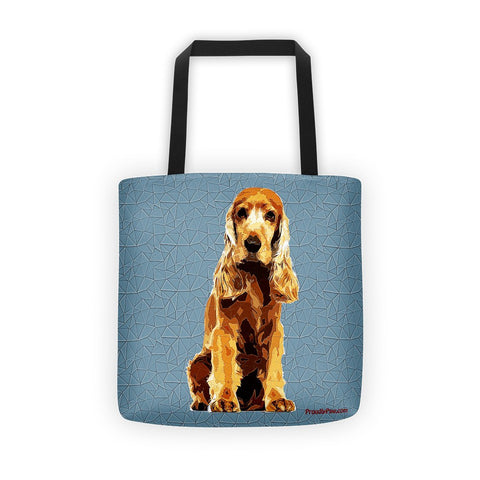 Cocker Spaniel Polygonal Art - All-Over Tote bag