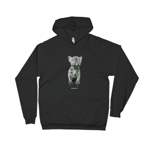 Blue Frenchie Celebration - Dark Colors - Pullover Hoodie