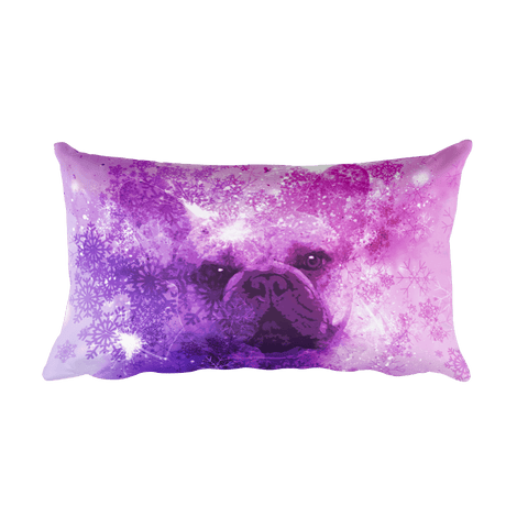 French Bulldog Christmas - Rectangular Pillow