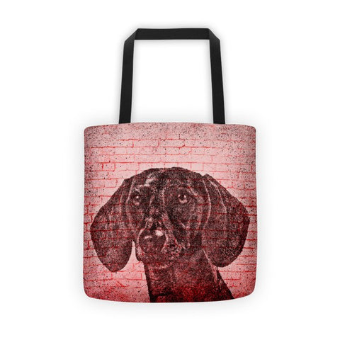 Dachshund On Wall All-Over Tote bag