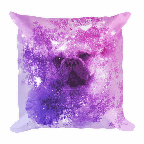French Bulldog Christmas - Square Pillow