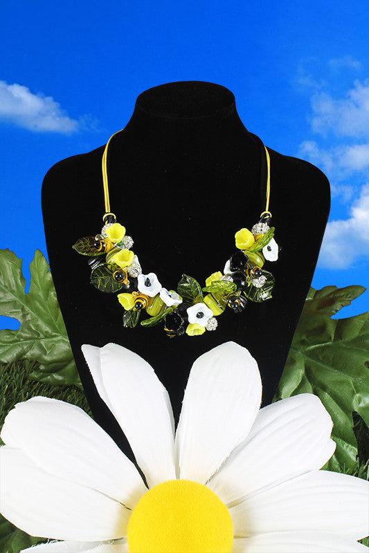 "Bee ""Millefiori"" necklace"