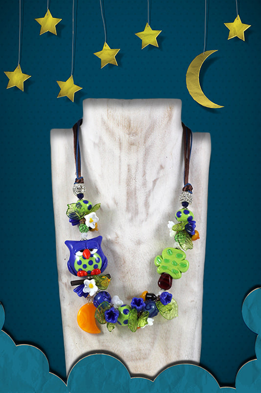 "Owl ""Buonanotte"" necklace"