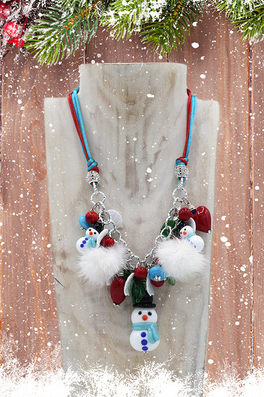 "Christmas ""Alfreddo"" necklace"