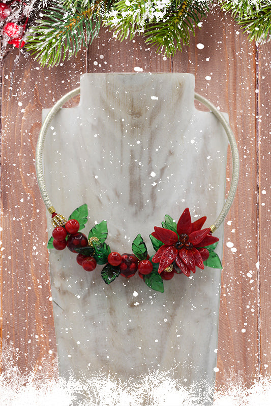 "Christmas ""Biancospino"" necklace"