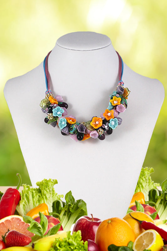 Aubergines necklace