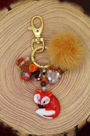 Fox keyring charms