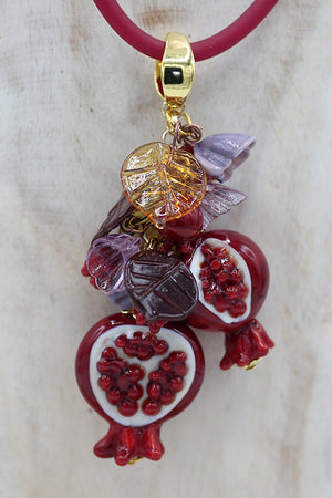 "Pomegranate ""Due chicchi"" necklace"