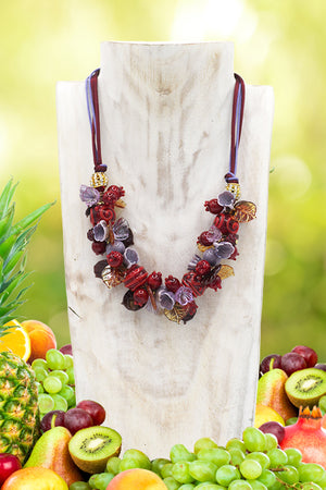 "Pomegranate ""Rubino"" necklace"