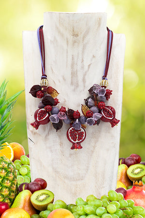 "Pomegranate ""Tre chicchi"" necklace"