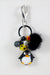 Penguin fur keyring