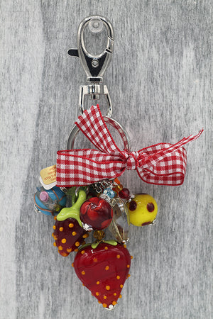 Strawberry keyring