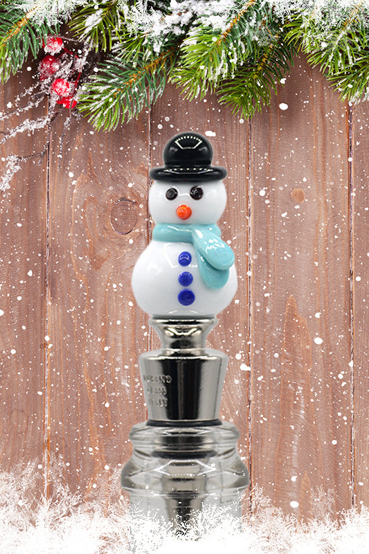 Christmas snowman winestopper