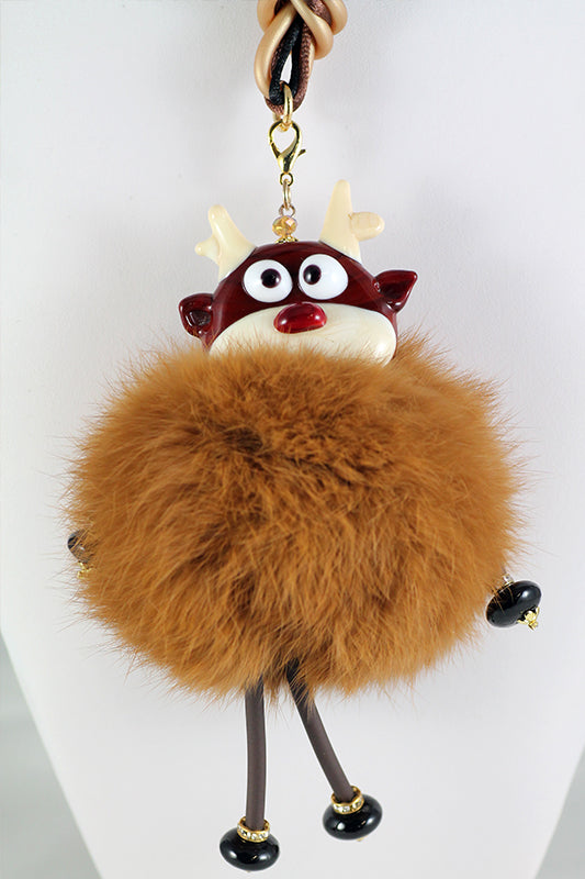 Christmas fur necklaces