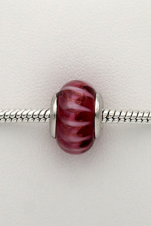 Pink stripes trollbead