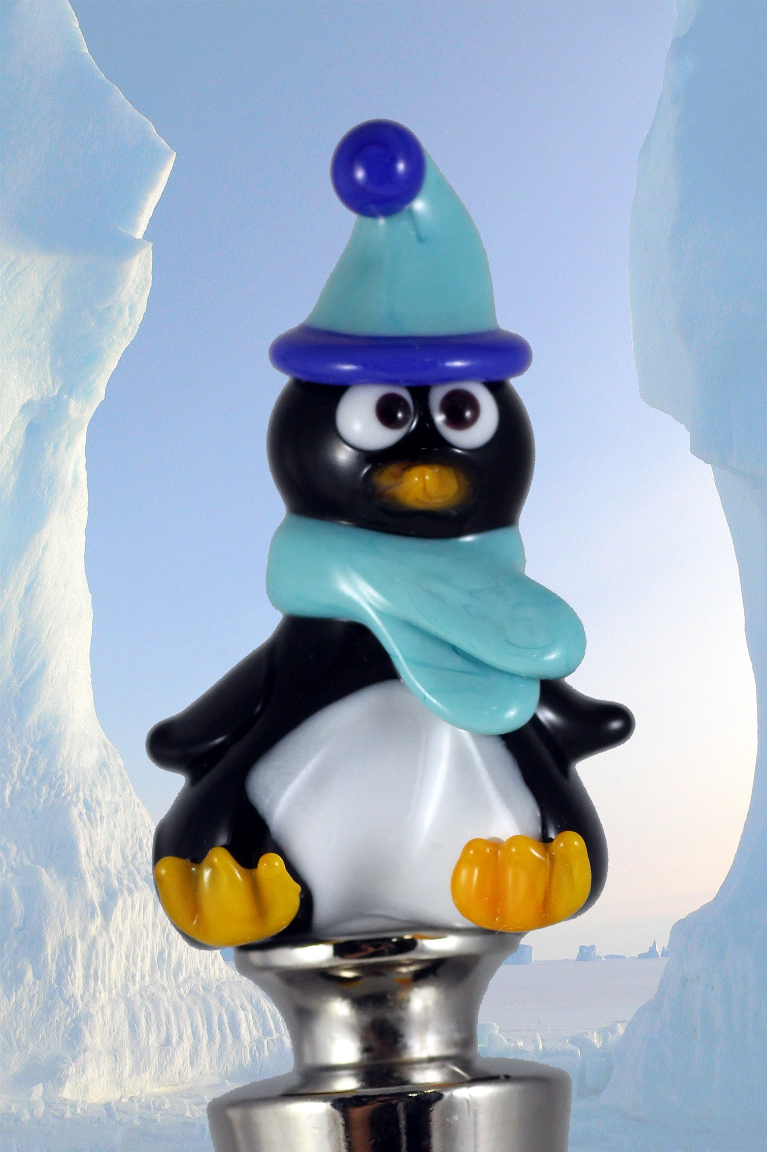 Penguin winestopper