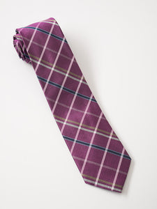 Purple Navy Gold Plaid