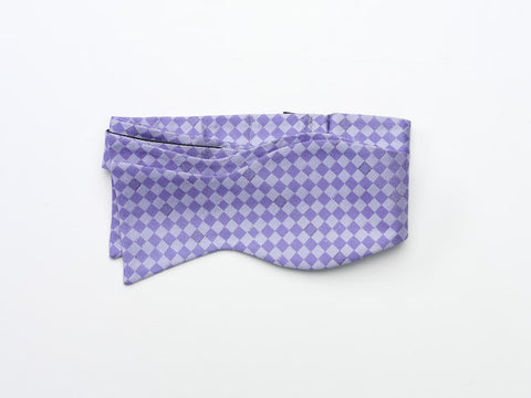 Purple Checkered Bow Tie-tie your own style