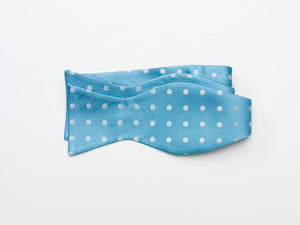 Teal Polka Dot Bow Tie-tie your own style