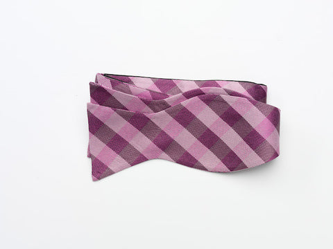 Purple and Pink Bow Tie-tie your own style