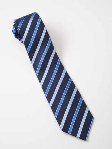 Dark Blue Textured Striped