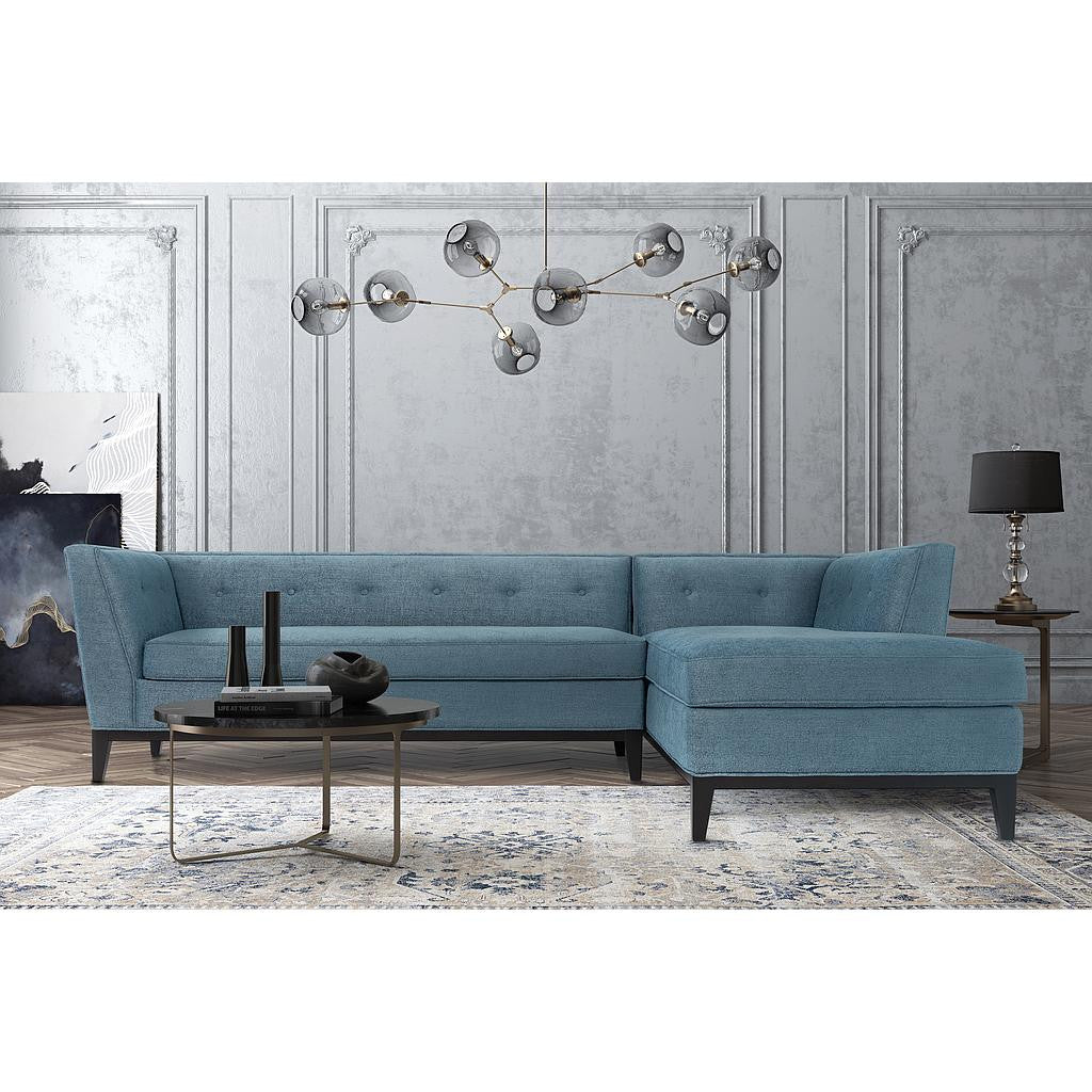 Awesome Jess Azure Linen RAF Sectional