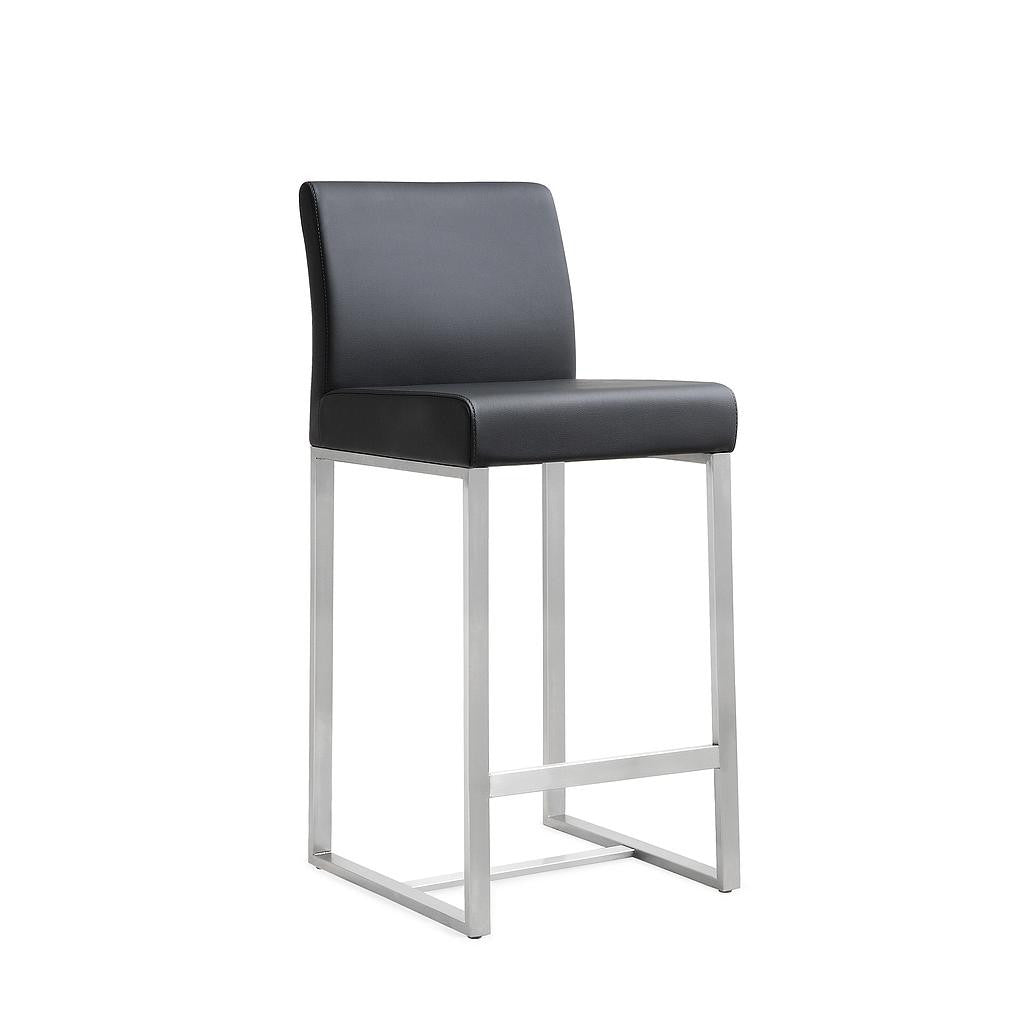 Fine Denmark Black Stainless Steel Barstool Ncnpc Chair Design For Home Ncnpcorg