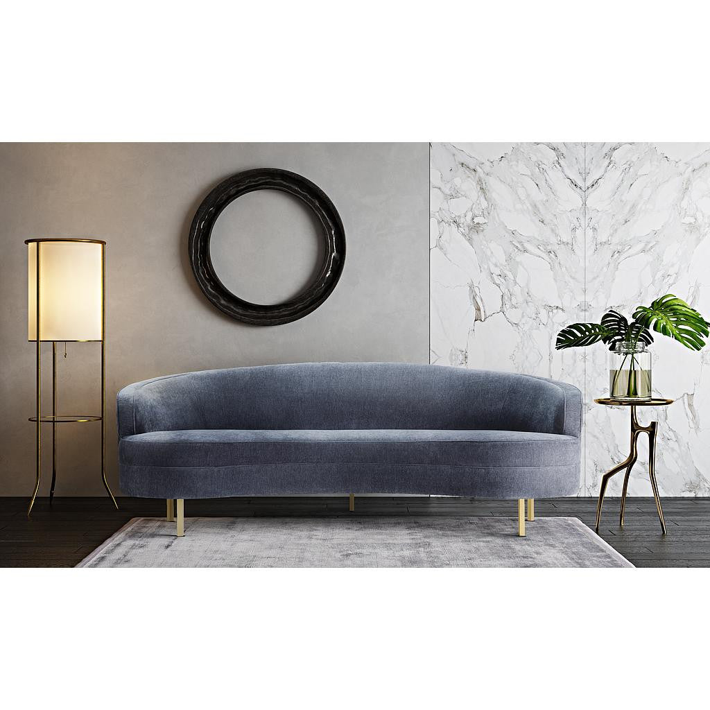 Baila Grey Velvet Sofa Mikasa Furniture