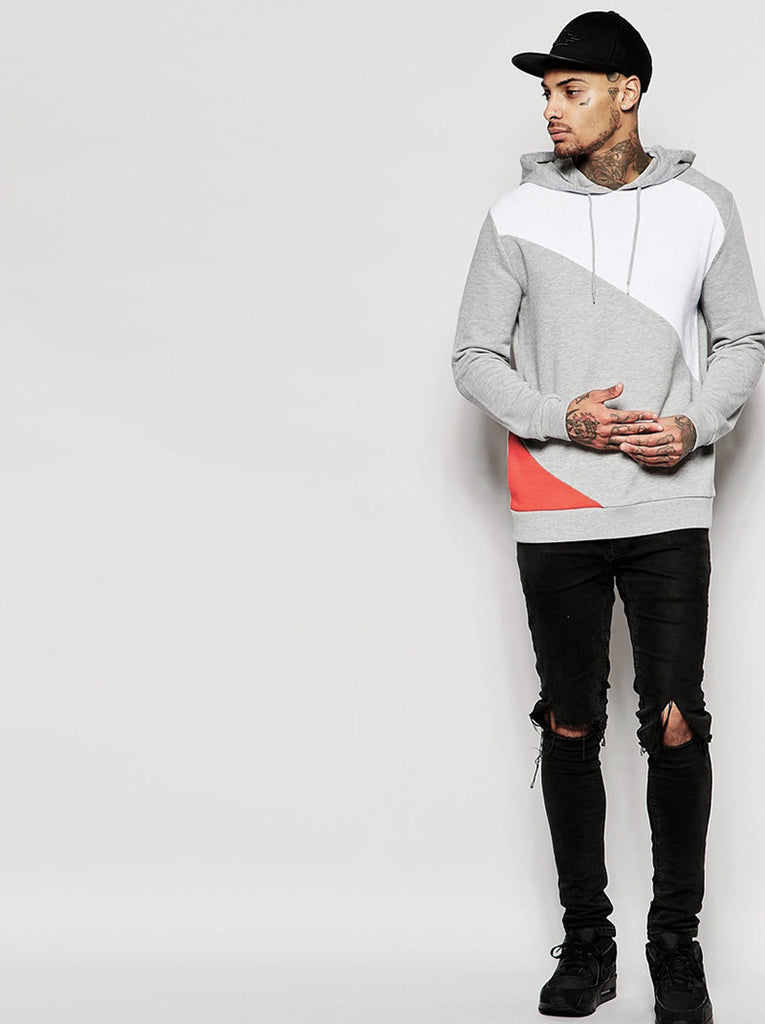 Hoodie With Cut & Sew Panels