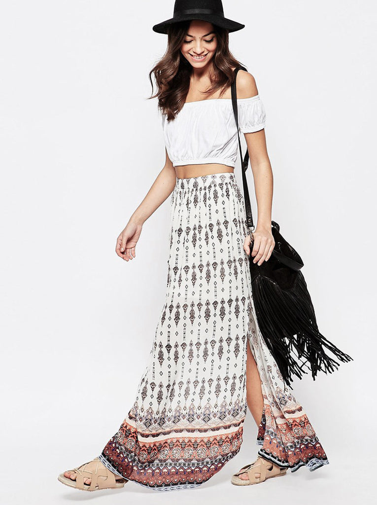 Soft Wrap Long Skirt