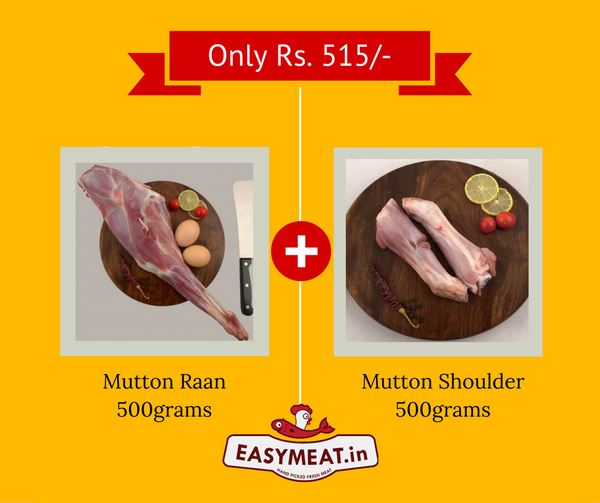 Mutton raan with mutton shoulder - easymeat