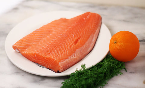Gourmet Delight Salmon Fillet with skin - 1 KG - easymeat