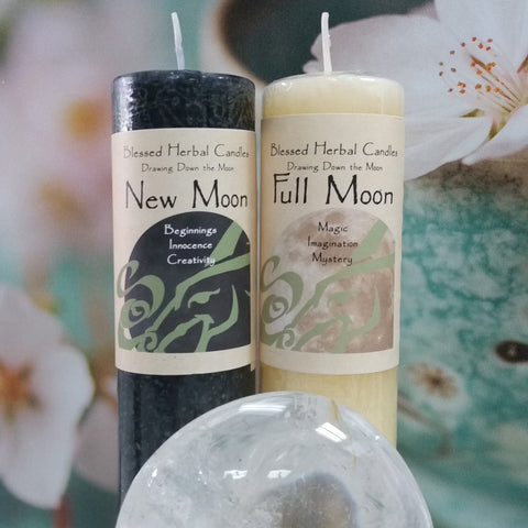 Blessed Herbal Moon Candles - Goddess I AM