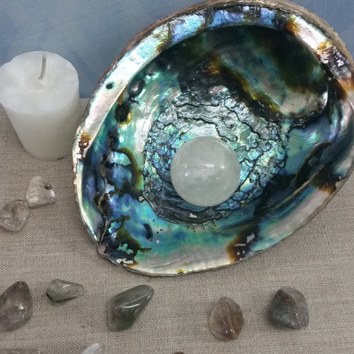 Abalone Smudging Bowl - Goddess I AM