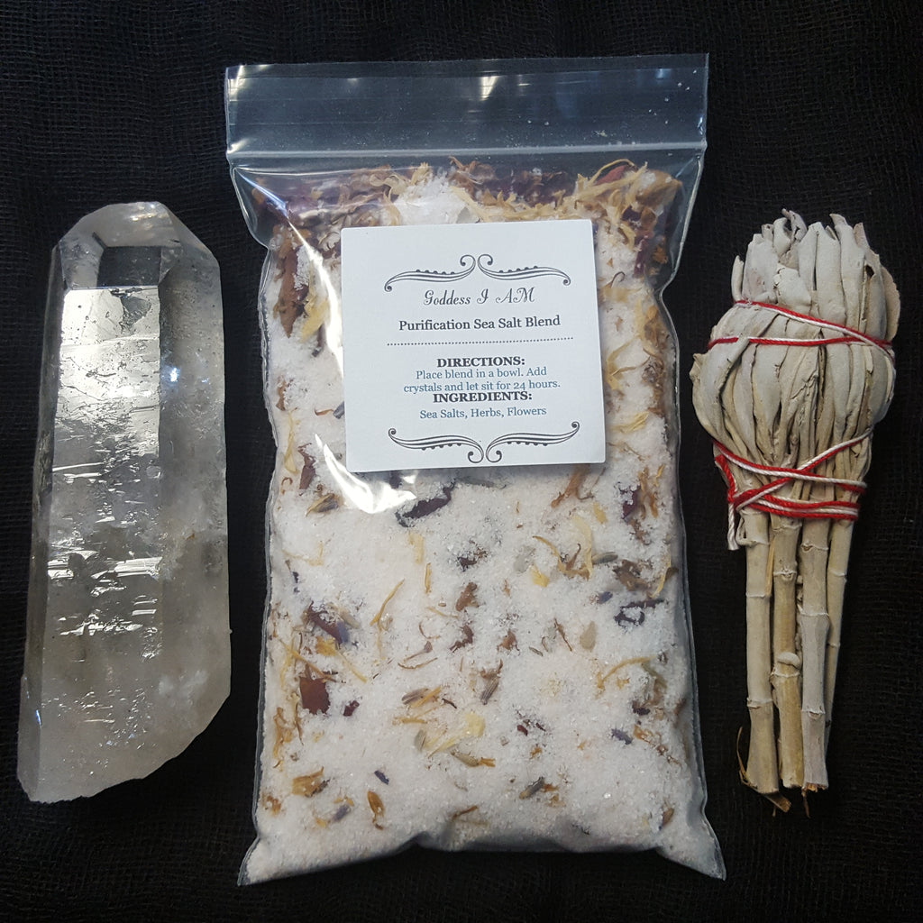 Crystal Cleansing Salts - Goddess I AM