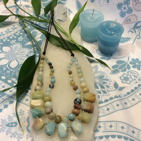 Double Strand Brazilian Amazonite Necklace - Goddess I AM