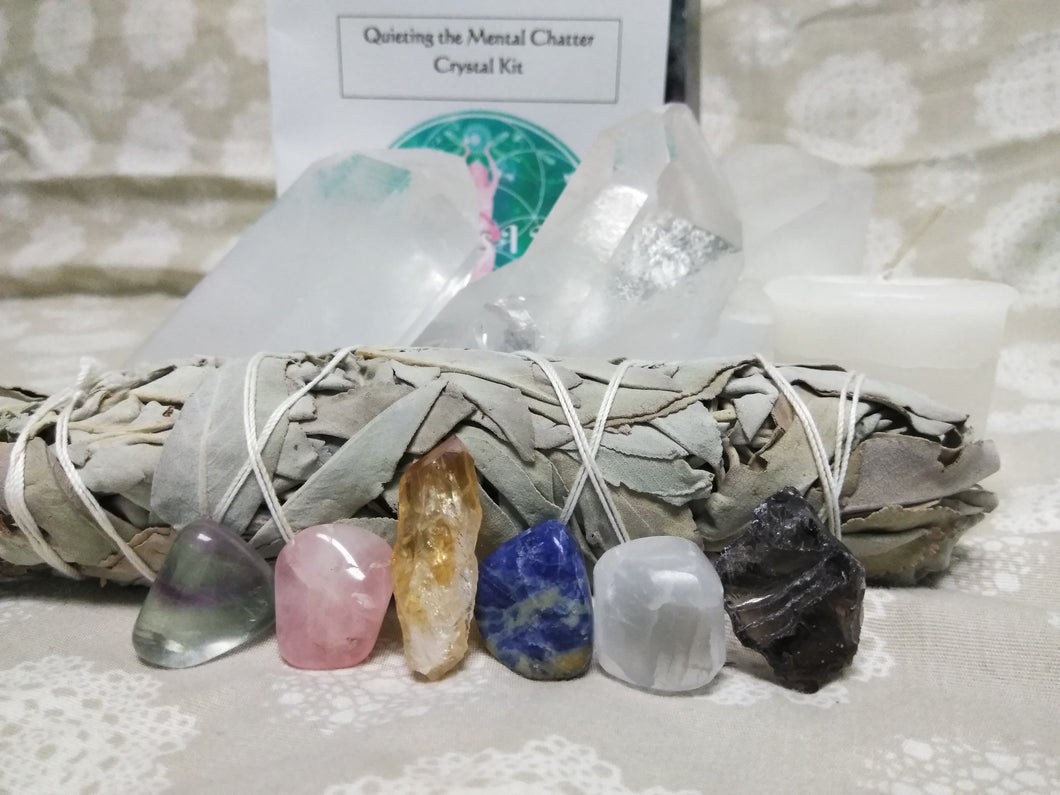Quieting the Mental Chatter Crystal Kits - Goddess I AM