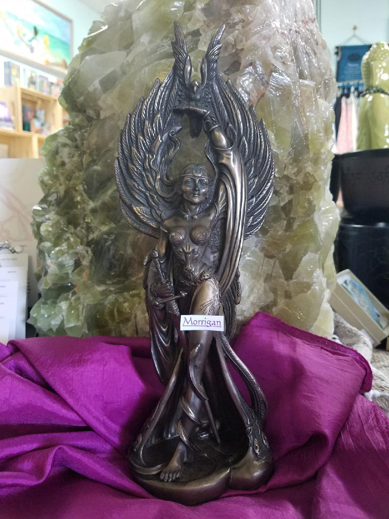 Morrigan Brass Cast Statue - Goddess I AM