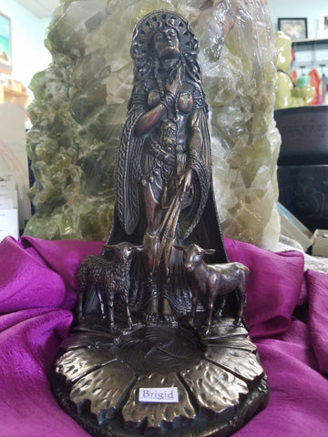 Brigid Cast Bronze Statue - Goddess I AM