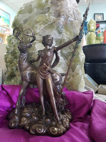 Diana the Huntress Cast Bronze Statue - Goddess I AM