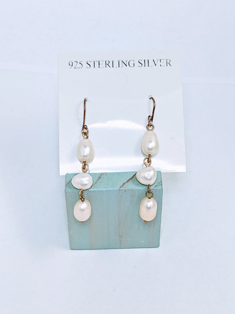 Fresh Water Pearl Silver Earrings - Goddess I AM